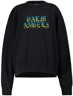 Palm Angels Logo cotton jersey sweatshirt