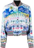 Amiri abstract print bomber jacket