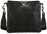 Valentino Rockstud Rolling Noir Small Hobo Bag w/Guitar Strap, Black