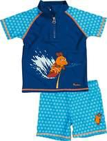 Playshoes Boy's UV Sun Protection 2 Piece Set Surfing Mouse Swim Shorts,(Manufacturer Size:134/140)