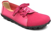 Lebe Women's Loafers Rose - Rose Red Asymmetric-Eyelet Suede-Toe Leather Oxford - Women