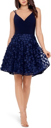 Xscape Evenings 3D Floral Party Dress