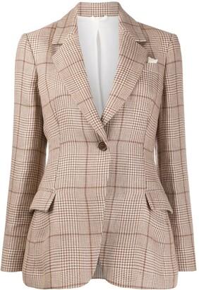 Brunello Cucinelli Tailored Houndstooth Check Blazer