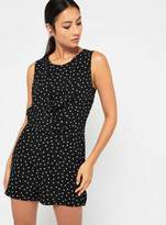 Miss Selfridge Polka dot drape playsuit