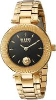 Versus By Versace Women's 'BRICK LANE' Quartz Stainless Steel Casual Watch, Color:Gold-Toned (Model: S71040016)