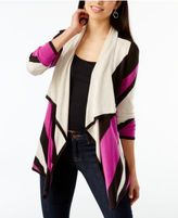 INC International Concepts Colorblocked Flyaway Cardigan, Created for Macy's