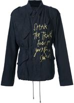 Haider Ackermann drawstring printed jacket