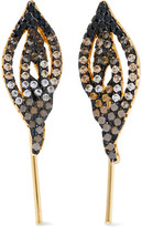 Noir Gleam Gold-Tone Crystal Earrings