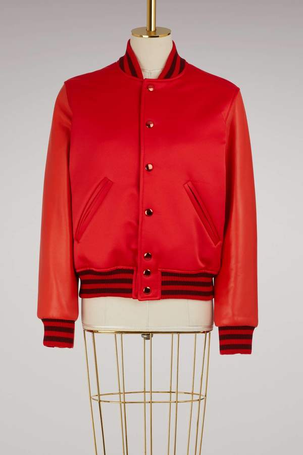 Givenchy Leather and satin bomber