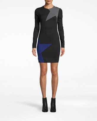 Nicole Miller Long Sleeve Ponte Dress