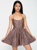 American Apparel Shiny Peach Cheetah Nylon Tricot Figure Skater Dress