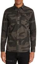 G Star 3301 Camouflage Regular Fit Button-Down Shirt