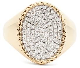 Yvonne Léon Diamond & Gold Signet Ring - Yellow Gold