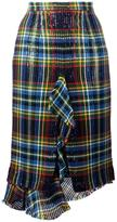 Marco De Vincenzo tartan checked skirt