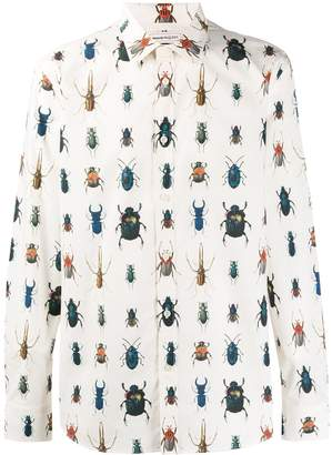Alexander McQueen insects print shirt
