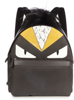 Fendi Bag Bugs fur-trimmed and nylon backpack