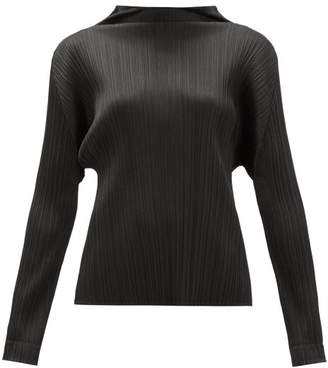 Pleats Please Issey Miyake Monthly Colours Tech-pleated Top - Womens - Black