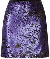 River Island Womens Blue sequin mini skirt