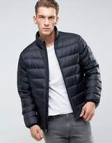 Abercrombie & Fitch Quilted Jacket Faux Down In Black
