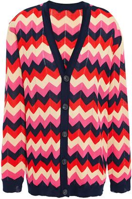 M Missoni Crochet-knit Cotton Cardigan