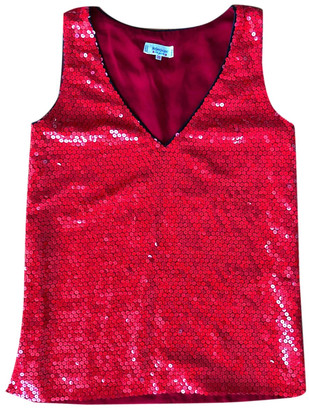 Saint Laurent Red Glitter Tops