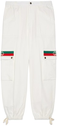Gucci Cotton pant with Interlocking G stripe