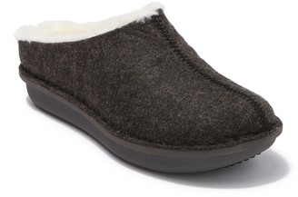 Clarks Step Flow Faux Fur Clog