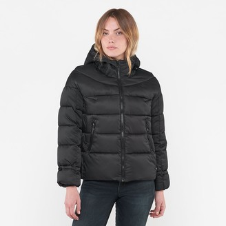 Le Temps Des Cerises Padded Puffer Jacket with Hood and Pockets