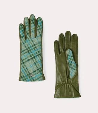 Vivienne Westwood Classic Long Gloves Green Tartan