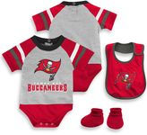 NFL Tampa Bay Buccaneers 3-Piece Creeper Bib and Bootie Set