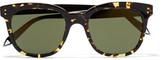 Victoria Beckham The D-frame Acetate Sunglasses - Tortoiseshell