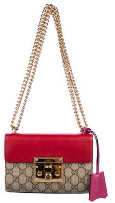 0a67f6279b GG Supreme Small Padlock Bag Beige GG Supreme Small Padlock Bag