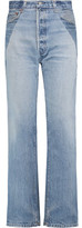 RE/DONE High-Rise Two-Tone Straight-Leg Jeans