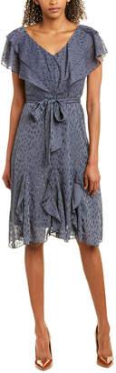 Bishop + Young Moody Blue Midi Dress