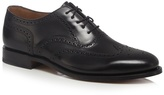 Loake Black Leather Lace Up Brogues