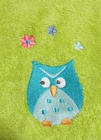 Lime Green Owl Hand Towel HOOTY HOOT from Mainstays