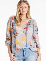 Lucky Brand Tucked Peasant Top