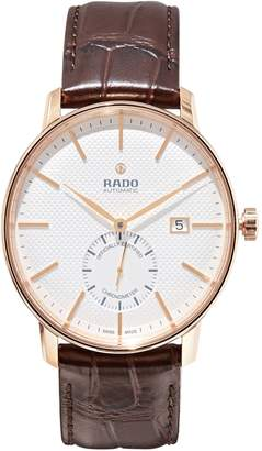 Rado Coupole Classic Stainless Steel Leather-Strap Automatic Watch