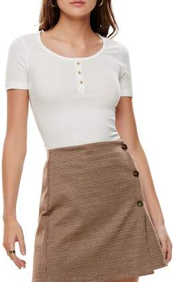 Only Veronika Ribbed Short Sleeve Top