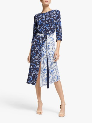 Marella Hodeida Floral Print Dress, Midnight Blue