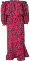Saloni Off Shoulder Printed Dress