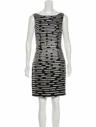 Naeem Khan Silk Metallic-Accented Dress Black