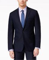 Ryan Seacrest Distinction Navy Solid Slim-Fit Jacket