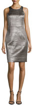 Milly Crocodile-Embossed Sheath Dress