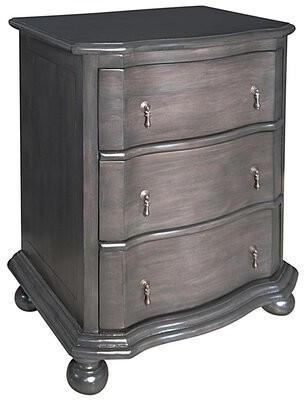 Noir Moira 3 Drawer Nightstand