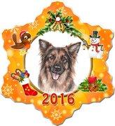Canine Designs German Shepherd Porcelain Christmas Holiday Ornament - 2016