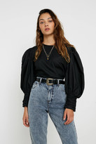 Urban Outfitters Poplin Puff-Sleeve Blouse