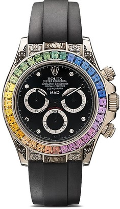 Mad Paris customised Rolex Daytona Rainbow engraved 40mm