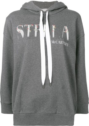 Stella McCartney Logo Patch Hooded Sweater