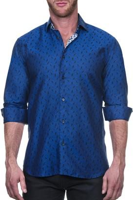 Maceoo Fibonacci Calmbird Bird Print Shaped Fit Shirt